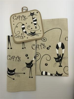 Набор полотенец A and C Collection. Цвет: бежевый, черный, светло-серый
