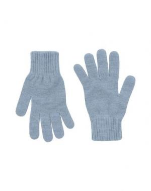 Перчатки LEVI'S RED TAB. Цвет: небесно-голубой
