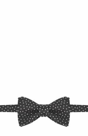 Шелковый галстук-бабочка с узором Eton. Цвет: темно-серый