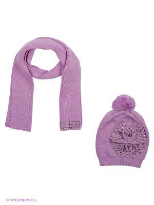 Комплект (шапка,шарф) R&I. Цвет: фиолетовый