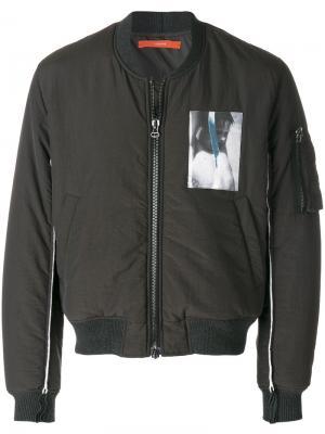 Куртка бомбер на молнии Komakino. Цвет: серый