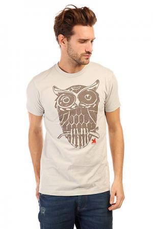 Футболка  Owl Silver Dekline. Цвет: бежевый