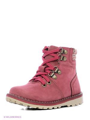 Ботинки Котофей. Цвет: бордовый