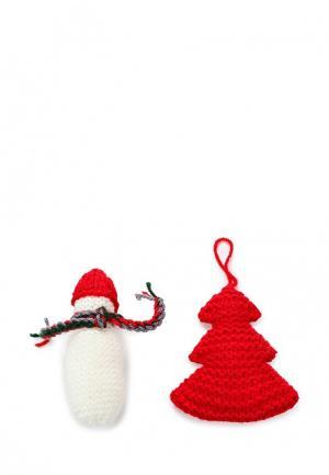 Набор новогодний Knitted Kiss. Цвет: разноцветный