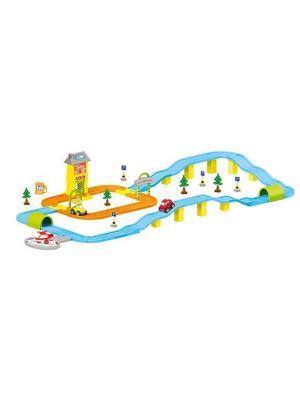 Игровой набор дорога с машинками DOLU. Цвет: морская волна
