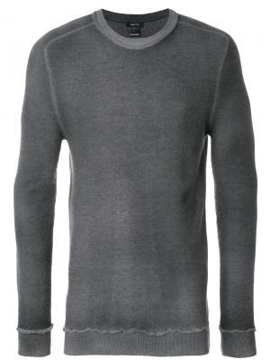 Джемпер с круглым вырезом Avant Toi. Цвет: серый