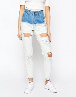 Good Vibes, Bad Daze Рваные джинсы бойфренда с эффектом деграде Vibes