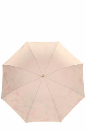 Зонт-трость с принтом Pasotti Ombrelli. Цвет: кремовый