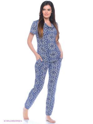 Домашний костюм Magwear. Цвет: синий