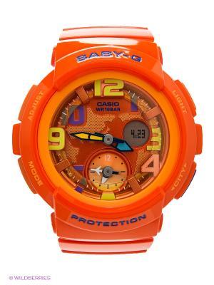 Часы Baby-G BGA-190-4B CASIO. Цвет: оранжевый