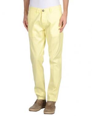 Повседневные брюки BASICON. Цвет: желтый