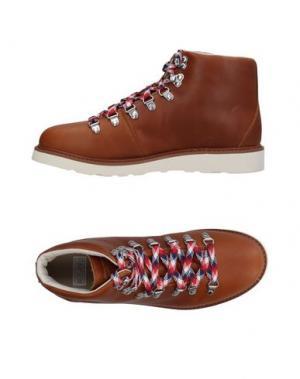 Высокие кеды и кроссовки RANSOM. Цвет: коричневый