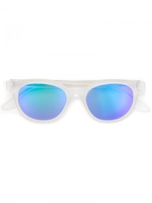 Солнцезащитные очки Riviera Crystal Flash Matte Retrosuperfuture. Цвет: белый
