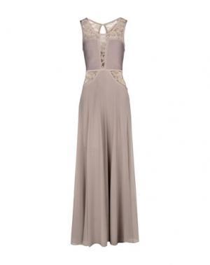 Длинное платье NO SECRETS. Цвет: голубиный серый