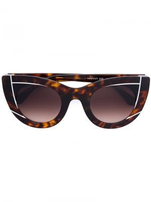 Солнцезащитные очки Chromaty Thierry Lasry. Цвет: коричневый