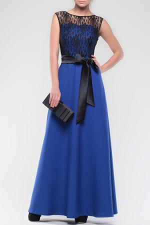 Платье Dioni. Цвет: электрик, черный