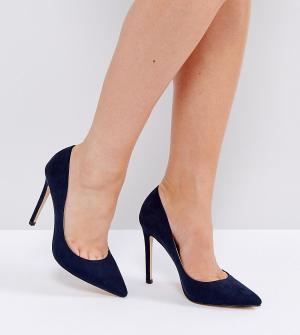 Faith Wide Fit Туфли-лодочки для широкой стопы Chloe. Цвет: темно-синий