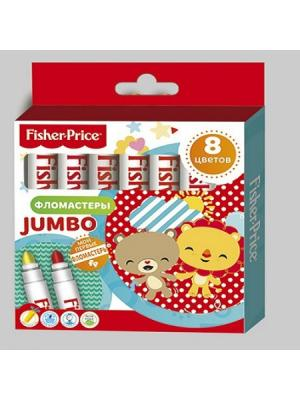 Фломастеры детские Jumbo Mattel Fisher Price 8 цветов. Цвет: красный