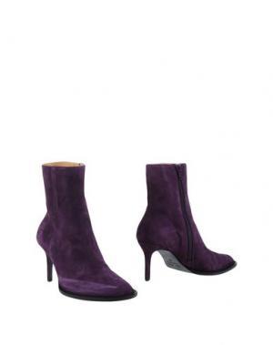 Полусапоги и высокие ботинки ANN DEMEULEMEESTER. Цвет: фиолетовый