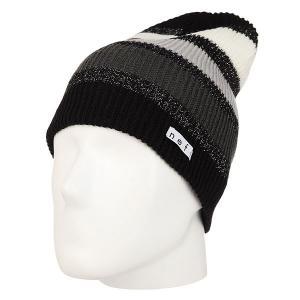 Шапка носок женская  Spark Beanie Black Neff. Цвет: черный,серый,белый
