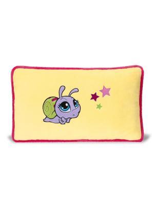 Декоративная подушка Улитка фиолетовая NICI. Цвет: розовый, желтый