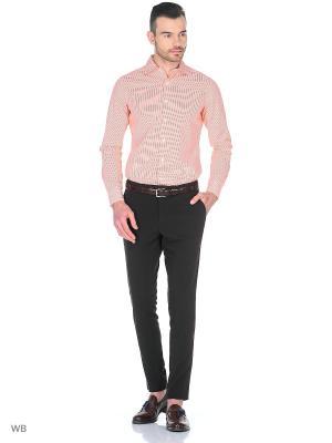 Рубашка MERCEDES-BENZ. Цвет: оранжевый, белый