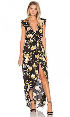 Платье с принтом tamara Karina Grimaldi. Цвет: черный
