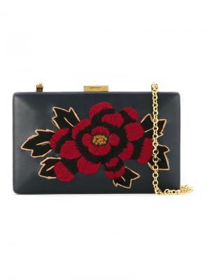 Embroidered clutch bag Serpui. Цвет: чёрный