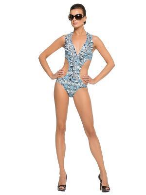 Слитный купальник LORA GRIG. Цвет: голубой