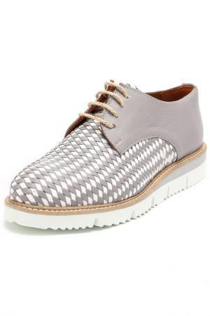 Ботинки Julie Dee. Цвет: серый, белый