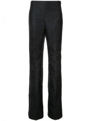 Жаккардовые брюки-палаццо Christian Siriano. Цвет: чёрный