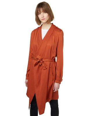 Пальто TOM TAILOR. Цвет: оранжевый