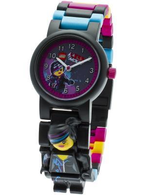 Часы наручные аналоговые LEGO MOVIE с минифигурой Lucy на ремешке. Цвет: черный, сливовый, голубой, желтый
