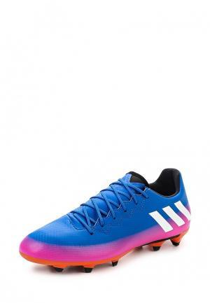 Бутсы adidas Performance. Цвет: синий