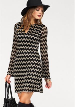Платье MELROSE. Цвет: черный/золотистый
