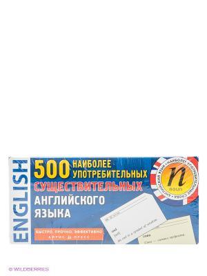 Настольная игра Карточки. 500 наиболее употребимых существительных английского языка АЙРИС-пресс. Цвет: синий