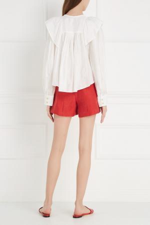 Шелковые шорты Chapurin. Цвет: красный
