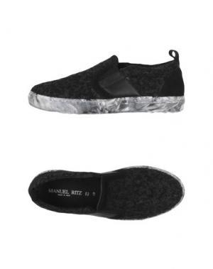 Низкие кеды и кроссовки MANUEL RITZ. Цвет: черный