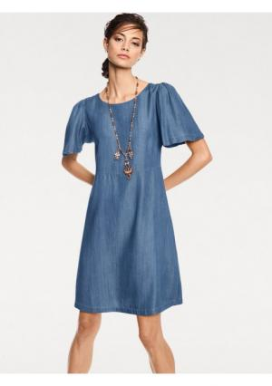 Джинсовое платье Rick Cardona. Цвет: синий деним
