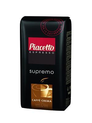 Кофе в зернах Piacetto Caffe Crema Supremo 1kg TCHIBO. Цвет: черный