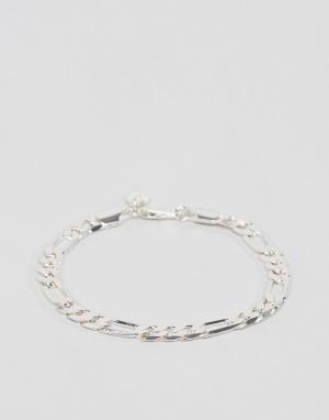 Chained & Able Серебристый браслет-цепочка. Цвет: серебряный