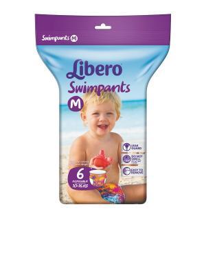 Libero Подгузники-трусики для плавания 10-16кг 6шт. Цвет: зеленый