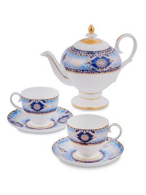 Чайный набор на 2 перс.Флоренция (Pavone) Pavone. Цвет: белый, голубой
