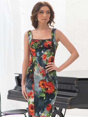 Платье Elena Shipilova. Цвет: темно-серый, коралловый