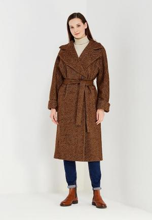 Пальто Immagi. Цвет: коричневый