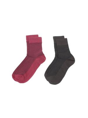 Носки, 2 пары Cascatto. Цвет: бордовый, коричневый