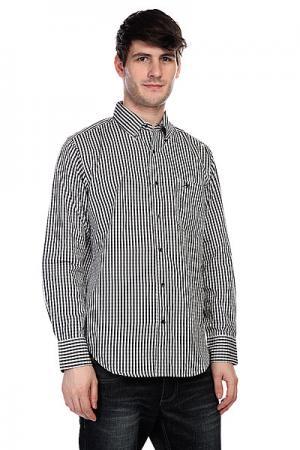 Рубашка в клетку  Trenton Black Innes. Цвет: белый,черный