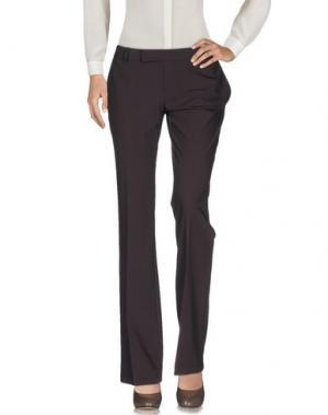 Повседневные брюки PF PAOLA FRANI. Цвет: темно-коричневый