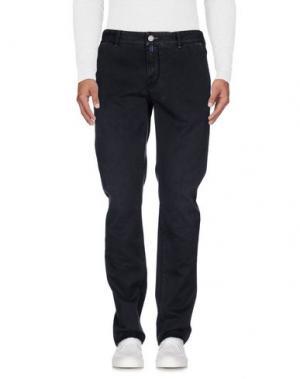 Джинсовые брюки LUIGI BORRELLI NAPOLI. Цвет: стальной серый