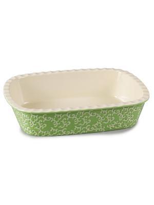 Форма керамическая прямоугольная зеленая appetite. Цвет: зеленый